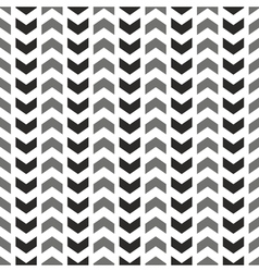 Tile pattern with grey and black arrows on white vector image