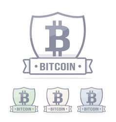 bitcoin logo cryptocurrency vector image vector image