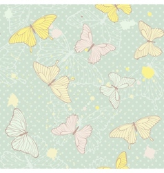 Delicate seamless pattern with butterflies vector image vector image