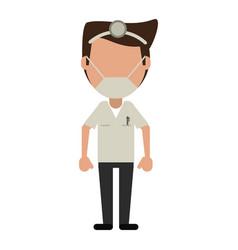 doctor specialist mask medical vector image