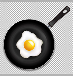 Frying pan with fried eggs isolated vector