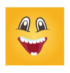 happy smiley face icon vector image vector image