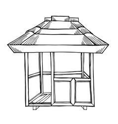 painted wooden gazebo vector image