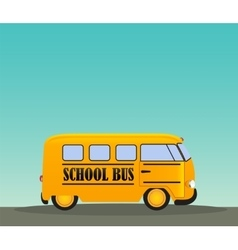 School Bus in Road Back to School Concept vector image