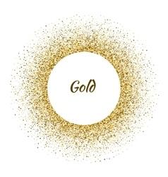 white circle frame on the gold glitter vector image