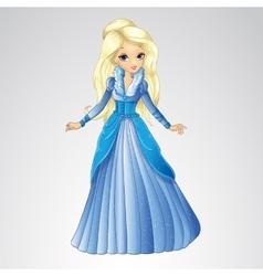 Beautiful Blonde Snow Queen vector image vector image