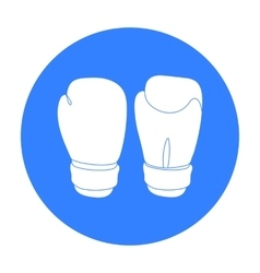 Boxing gloves icon in black style isolated on vector image