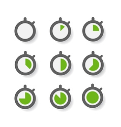 Clock icons collection Design elements vector image vector image