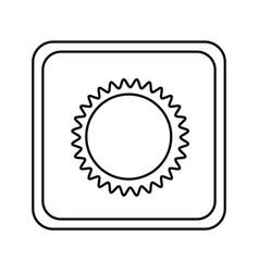 emblem beautiful sun abstract icon vector image