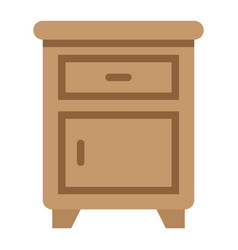 nightstand flat icon furniture and interior vector image vector image