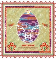 Retro Easter background In Folk Style vector image vector image