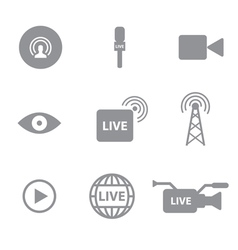 Set of live technology icons concept vector image