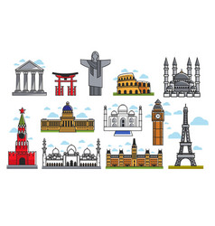 spectacular famous architectural art creations vector image vector image