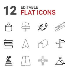 12 way icons vector image