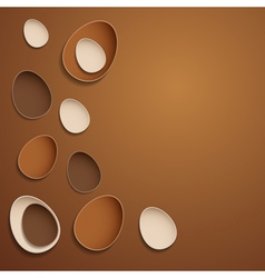 Abstract chocolate easter eggs vector image