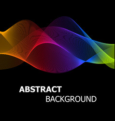 abstract colourful lines wave background vector image