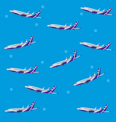 Airplanes pattern background vector