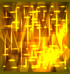 Amazing golden pattern of shards and triangles vector