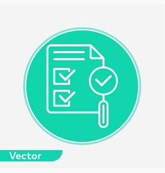 approval icon sign symbol vector image