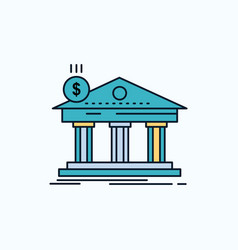 architecture bank banking building federal flat vector image