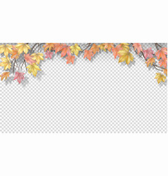Autumn border with maple leaves vector