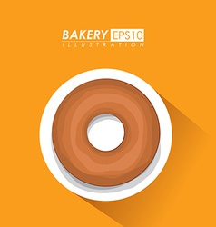 Bakery design over brown background vector