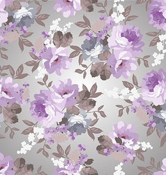 Beautiful Vintage floral pattern with roses vector