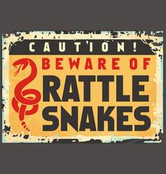 Beware rattlesnakes vector