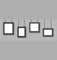 Blank hanging frames pictures photo frames vector