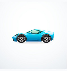 blue cartoon sport car vector image