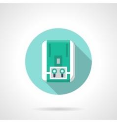 Blue water boiler flat color design icon vector