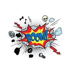 Boom comic pop art bubble vector