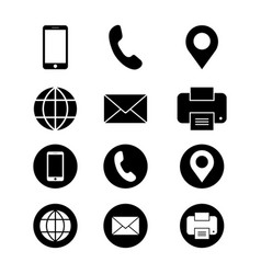 Business card icon contact symbol vector