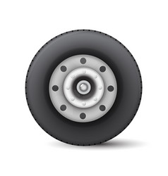 car wheel isolated on white background vector image