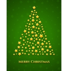 Christmas tree made from stars vector image