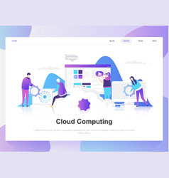 cloud computing modern flat design concept vector image
