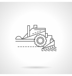 Combine equipment line flat thin line icon vector image