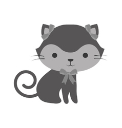 cute cat kawaii style vector image