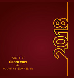 dark red happy new year 2018 background vector image