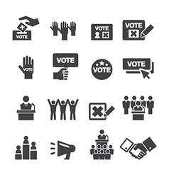 Democracy icon vector