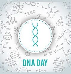 Dna day april 25 vector