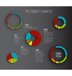 Donut pie chart templates vector image