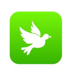 Dove icon digital green vector