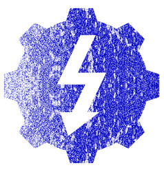 Electric gear textured icon vector