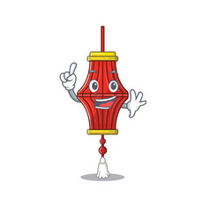 Finger chinese paper lanterns in mascot cartoon vector
