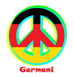 Flag of germani as a sign of pacifism vector