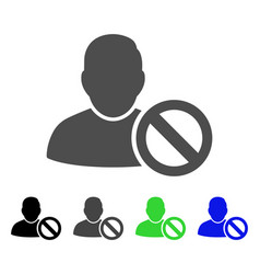 Forbidden user flat icon vector