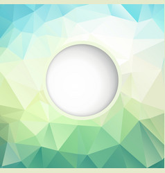 Fresh polygonal background vector