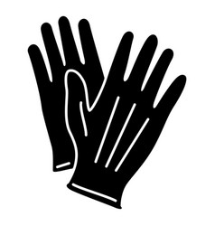 Glove icon simple style vector