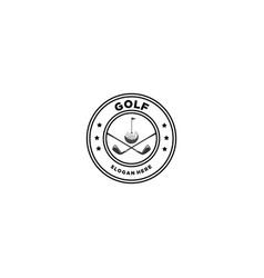 golf emblem logo vector image